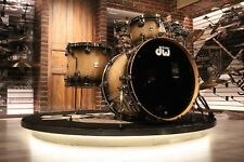 DW Collector Exotic Maple Spruce 4-piece Candy Black Burst Drum Set - New!
