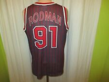 Chicago Bulls Original Champion Authentic NBA Trikot + Nr.91 Rodman Gr.M