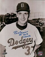 "Ed Roebuck Signed 8X10 Vintage Photo Autograph ""55 WS Champs"" Dodgers Auto COA"