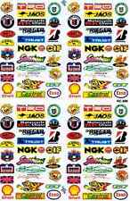 "D531 Sponsor Sponsors Racing Tuning Sticker Decal 1 Sheet 10,5""x7"" / 27x18 cm"