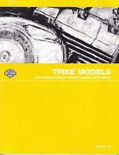 2010 Harley Trike FLHTCUTG Tri Glide Repair Service Manual Supplement 99601-10