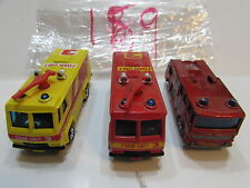 MATCHBOX LESNEY LOT OF 3 LOOSE COMMAND VEHICLE - MADE IN MACAU - ENGLAND