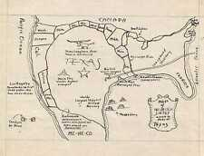 1943 Manuscript Map of the United States from the Perspective of Texas