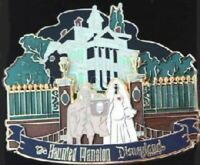 RARE AUTHENTIC DISNEY Haunted Mansion Hatbox Ghost Bride Cast LE Pin 73656 HA-6