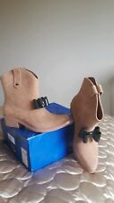 VIVIENNE WESTWOOD ANGLOMANIA MELISSA PROTECTION BOOTS SIZE 7. NUDE FLOCK COWBOY