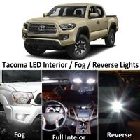 White LED Interior,Fog,Reverse lights package +Tool for 2016-2019 Toyota Tacoma