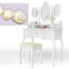 toilette trucco sgabello tavolo trucco toletta specchio serie Queen Rose