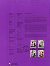 #0437 37c Santa Ornaments Stamps #3883-94 Souvenir Page