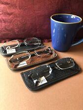 3 X Unisex RIMLESS CLASSIC READING  GLASSES +1.50Design Optics /Foster Grant NEW