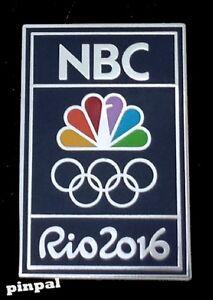 Rio 2016 NBC Olympic Media Sponsor Pin Badge ~ Classic Blue with Logo