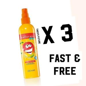 3 X Avon Naturals Kids Magnificent Mango Hair Detangling Spray 200ml SALE SALE