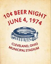 10 CENT BEER NIGHT Cleveland Indians June 4, 1974 Glossy 8 x 10 Photo Poster