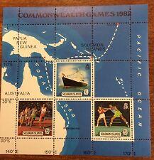 1982 Solomon Island commonwealth games mini sheet