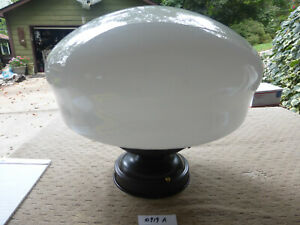 """Vintage Antique Bakers Hat/School House 14"""" Ceiling Fixture Light 10919 A"""