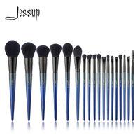 New Cosmetic Brush Set Jessup Royal Blue Tapered Face Blush Powder Foundation