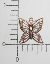 Filigree Butterfly Jewelry Finding Charm 35115 4 Pc Copper Oxidized