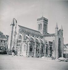 VIRE c. 1957 - Travaux  Église Notre-Dame Autos Calvados - DIV 9888
