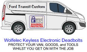 Transit Custom Security System COG Security Electronic Deadbolt Slam 2013 -