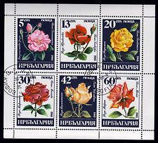 Bulgarien 3373-78, O, Kleinbogen, Blumen-Rosen