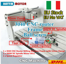 【Italia】 CNC 3040 Router Ball Screw Desktop Engraving Machine Frame&300W Spindle