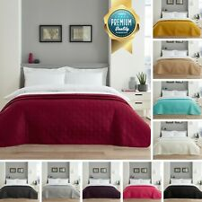 Luxury Quilted Bedspread Throw Comforter Bedding Large Sofa Cover Double Size