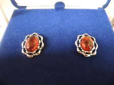 NEW AUTHENTIC  JACQUELINE KENNEDY NATURAL AMBER JK REPRODUCTION EARRINGS