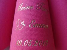 ♥ 50 edel mit Namen bedruckte DUNILIN-Premium-Dinnerservietten zur/für die TAUFE