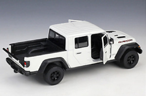 Welly 1:27 2020 Jeep Gladiator Pickup White Diecast Model Racing Car NEW BOXED