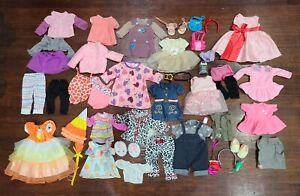 """18"""" inch Doll Clothes lot - Fits American Girl Battat Our Generation (Set 1)"""