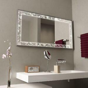 Spiegel für das Bad mit Alurahmen Fiodora · Badezimmerspiegel mit LED · EEK: A++