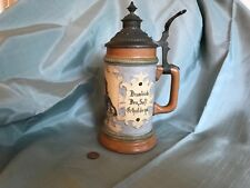 Antique German HR Hauber & Reuther Porcelain Beer Stein #212 free 📦 shipping