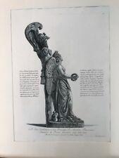 Piranesi, Roman marble trophy .Original etching.Paris 1800-1806