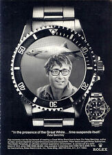 """1976 """"JAWS"""" AUTHOR PETER BENCHLEY 'ROLEX Submariner' WATCH AD"""