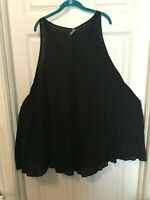 Swimsuits For All Black Flowing Cover-Ups Sizes 18/20 & 22/24