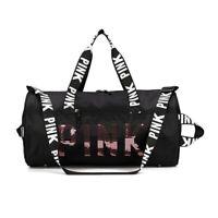 丿Women Gym Bag Pink Sports Small Gym Bag Women with Shoes Compartment&Wet Pocket