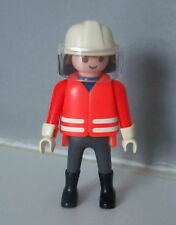 PLAYMOBIL (G2206) POMPIERS - Pompier en Tenue d'Intervention 3880 3881
