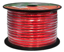 NEW Pyramid RPR10100 10 Gauge Clear Red Power Wire 100 ft.