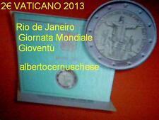 2 euro VATICAN 2013 Vaticano Vatikan Brasil Rio de Janeiro jeunesse juventud