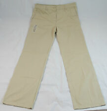 NWT Womens Lacoste Twill Wide Leg Chino Pants Beige Size 40/8 $185 HF1199