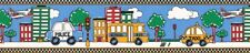 KIDS SCHOOL BUS, CARS Wallpaper Border 329B81337