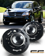 2011-2014 Dodge Avenger Clear Lens Replacement Fog Lights Housing Assembly Pair