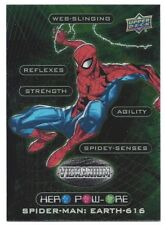 2015 Marvel Vibranium Hero Pow-Ore Insert Card - Spider-Man