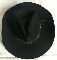 Mens Cowboy Hat Bradford Western by Resistol Premium Wool XX Size 7/56cm Black