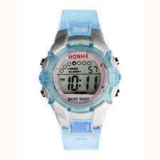 LED Quartz Alarm Date Children Girls Digital Watch Sports Wrist Watch D