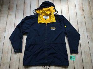 Vintage UCLA Bruins Champion Jacket Large L NCAA Blue Yellow Hooded Windbreaker