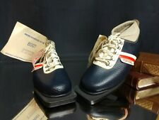 (Sz. 39) NOS! Vintage Turvista 3-Pin 75mm Cross Country Nordic Ski Boots Leather