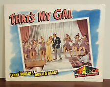 1947 That's My Gal TruColor Lobby Card Lynne Roberts Donald Barry 8