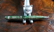 Cute Green And Grey Celluloid Mechanical pencil Silver Accents