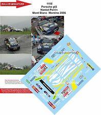 DECALS 1/18 REF 1118 PORSCHE 911 GT3 NANTET RALLYE DU MONT BLANC 2006 RALLY WRC