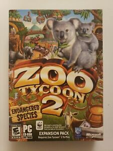 Zoo Tycoon 2: Endangered Species Expansion (PC, 2005) Brand New Sealed!